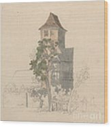 Tower Of A Fortified House [recto] Wood Print