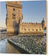 Tower Of Belem Wood Print