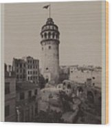 Tower Of Galata,  Wood Print