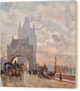 Tower Of London Bridge Wood Print