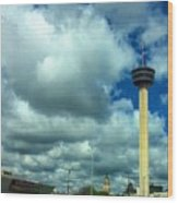 Tower Of The Americas Scene Wood Print