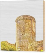 Tower Of The Castle Wood Print