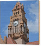 Tower Of The Decatur Courthouse  Wood Print