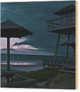Tower Over The Shoreline Wood Print