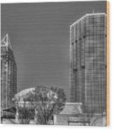 Tower Place Stripped Buckhead Atlanta Art Wood Print