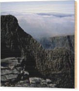 Tower Ridge From Ben Nevis Summit Fort William Lochaber Invernesshire Scotland Wood Print