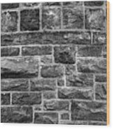 Tower Wall Black And White Wood Print