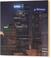 Towering Buildings Of Pittsburgh Wood Print