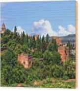 Towers Of The Alhambra Wood Print