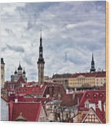 Towers Of The Tallinn Old Town Wood Print
