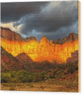 Towers Of The Virgin Two Wood Print by Paul Basile