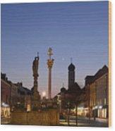 town center of Straubing Wood Print
