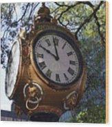 Town Clock Wood Print