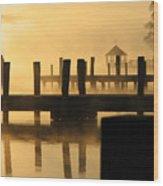 Town Docks Wood Print