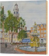 Town Hall Square Leicester Wood Print