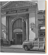 Town House And Woody Station Wagon, Alvarado Street - Monterey   Wood Print