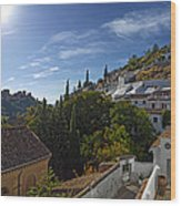 Town In A Valley, Sacromonte, Granada Wood Print