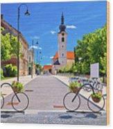 Town Of Bicycles Koprivnica Street View Wood Print