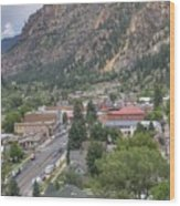 Town Of Ouray Wood Print