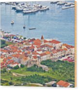 Town Of Seget Aerial View Wood Print