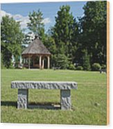 Town Park In Bartlett New Hampshire Usa Wood Print