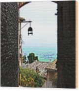 Town View In Italy Wood Print