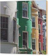 Townhouse Row 1 Wood Print