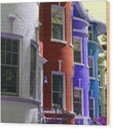 Townhouse Row 2 Wood Print