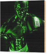 Toxic Boxer Wood Print by Val Black Russian Tourchin