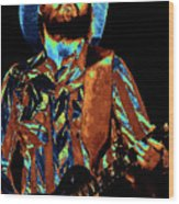 Toy Caldwell Plays The Blues Wood Print