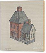Toy House Wood Print