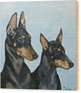 Toy Manchester Terriers Wood Print