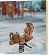 Toy Mule Wood Print