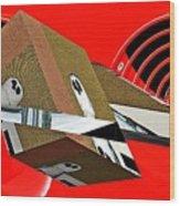 Toy Owl Bump Map As Art Wood Print