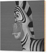 Toy Zebra Wood Print