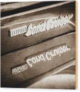 Toyota Land Cruiser Emblem  -0584s Wood Print