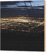 Tr07 Sandia Tram Wood Print