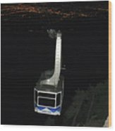 Tr09 Sandia Tram Wood Print