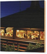 Tr12 Sandia Tram Wood Print