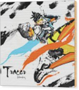 Tracer Overwatch Wood Print