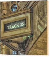 Track 25 Wood Print