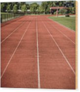 Track And Field Of Depth One Wood Print