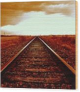 Marfa Texas America Southwest Tracks To California Wood Print