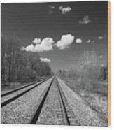 Tracks To Nowhere 1520 Wood Print