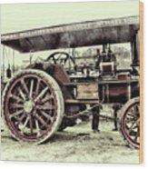 Traction Engine Wood Print