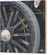 Traction Engine.  Wood Print