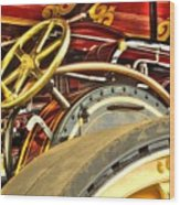 Traction Engine Steering Mechanism Wood Print