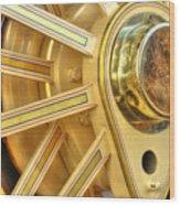 Traction Engine Wheel Wood Print