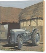 Tractor And Barn Wood Print