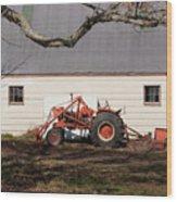 Tractor Barn Branch Wood Print